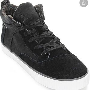 Toms Camila Black Weatherized High Top Shoes